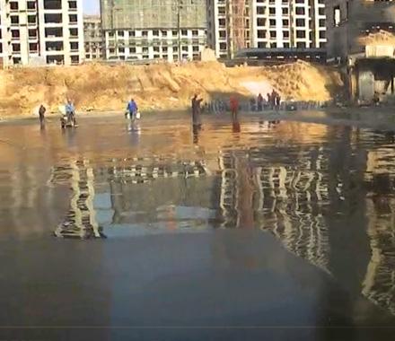 滨城区政府创业花园车库底板防水